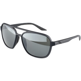 100% Kasia Aviator Round Bril, matte black/black mirror